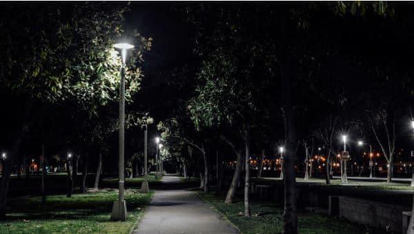 iluminación plazas parques, alumbrado publico con led