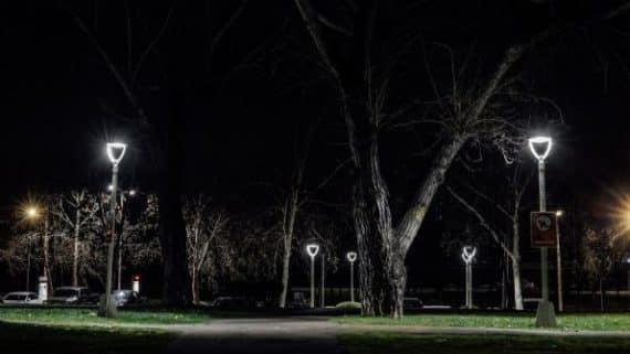 focos led iluminacion de parques y plazas