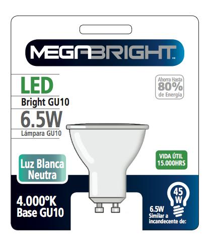 Ampolleta LED GU-10  6,5W